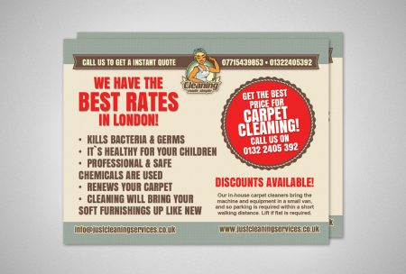 Flyers Design For Just Cleaning Service London