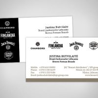 Mixology business card design in London